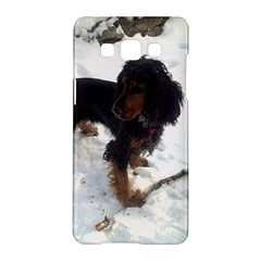 Black Tri English Cocker Spaniel In Snow Samsung Galaxy A5 Hardshell Case
