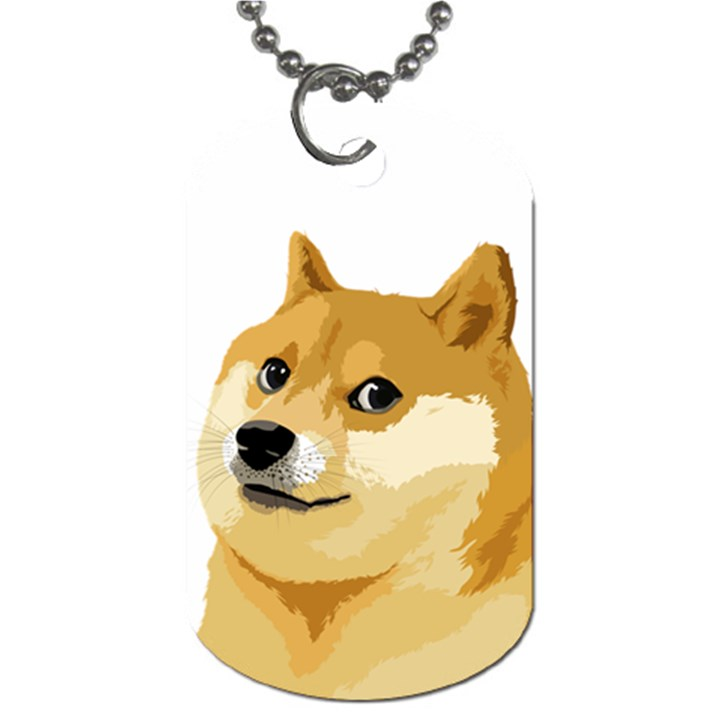 dogecoin Dog Tag (One Sided)