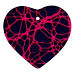 Hot Web Pink Heart Ornament (2 Sides) Back