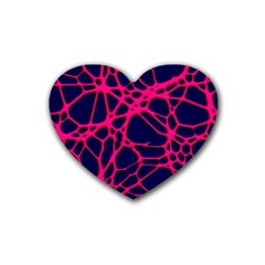 Hot Web Pink Heart Coaster (4 Pack)