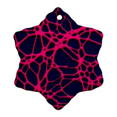 Hot Web Pink Snowflake Ornament (2-Side)