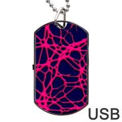 Hot Web Pink Dog Tag USB Flash (Two Sides)