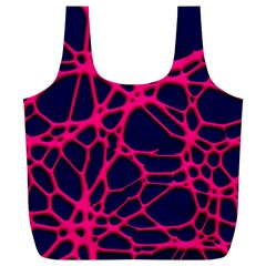 Hot Web Pink Full Print Recycle Bags (l)