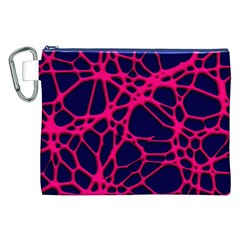 Hot Web Pink Canvas Cosmetic Bag (XXL)