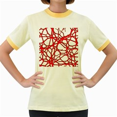 Hot Web Red Women s Fitted Ringer T-Shirts
