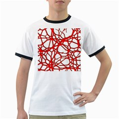 Hot Web Red Ringer T Shirts