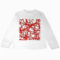 Hot Web Red Kids Long Sleeve T-Shirts