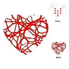 Hot Web Red Playing Cards (heart)