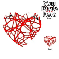 Hot Web Red Playing Cards 54 (Heart)