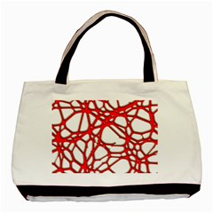 Hot Web Red Basic Tote Bag (two Sides)
