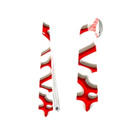 Hot Web Red Neckties (One Side)