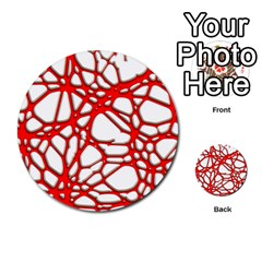 Hot Web Red Multi Purpose Cards (round)