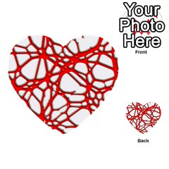 Hot Web Red Multi Purpose Cards (heart)