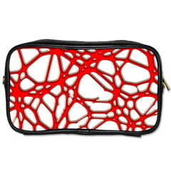 Hot Web Red Toiletries Bags 2 Side