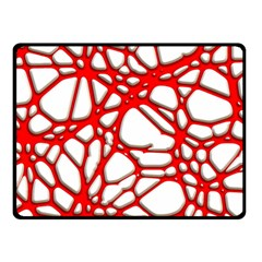Hot Web Red Double Sided Fleece Blanket (Small)