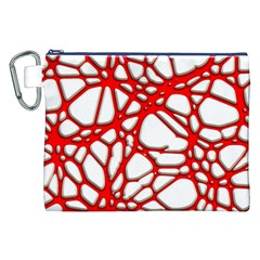 Hot Web Red Canvas Cosmetic Bag (xxl)