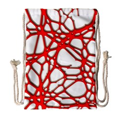 Hot Web Red Drawstring Bag (Large)