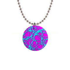 Hot Web Turqoise Pink Button Necklaces