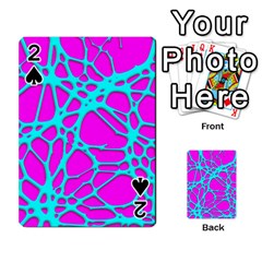 Hot Web Turqoise Pink Playing Cards 54 Designs