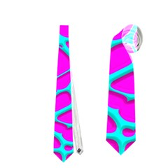 Hot Web Turqoise Pink Neckties (one Side)