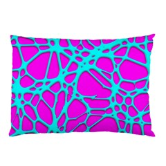 Hot Web Turqoise Pink Pillow Cases