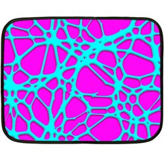 Hot Web Turqoise Pink Fleece Blanket (Mini)