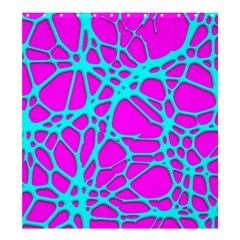 Hot Web Turqoise Pink Shower Curtain 66  x 72  (Large)