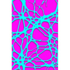 Hot Web Turqoise Pink 5 5  X 8 5  Notebooks