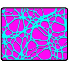 Hot Web Turqoise Pink Fleece Blanket (medium)
