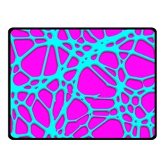 Hot Web Turqoise Pink Fleece Blanket (small)