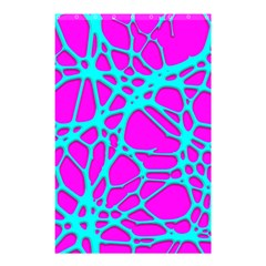 Hot Web Turqoise Pink Shower Curtain 48  x 72  (Small)