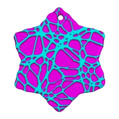 Hot Web Turqoise Pink Ornament (Snowflake)