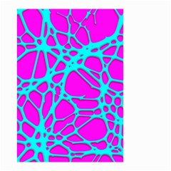 Hot Web Turqoise Pink Small Garden Flag (two Sides)