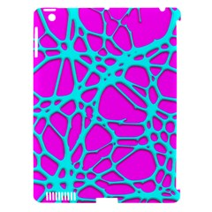 Hot Web Turqoise Pink Apple Ipad 3/4 Hardshell Case (compatible With Smart Cover)