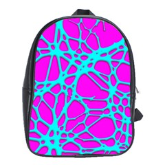 Hot Web Turqoise Pink School Bags (xl)