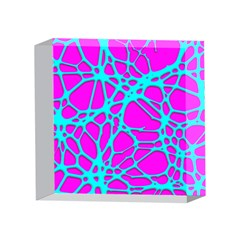 Hot Web Turqoise Pink 4 x 4  Acrylic Photo Blocks