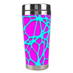 Hot Web Turqoise Pink Stainless Steel Travel Tumblers
