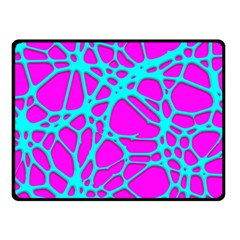 Hot Web Turqoise Pink Double Sided Fleece Blanket (Small)