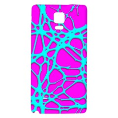 Hot Web Turqoise Pink Galaxy Note 4 Back Case