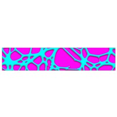 Hot Web Turqoise Pink Flano Scarf (Small)