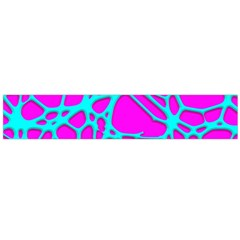 Hot Web Turqoise Pink Flano Scarf (large)