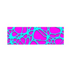 Hot Web Turqoise Pink Satin Scarf (Oblong)