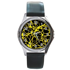 Hot Web Yellow Round Metal Watches