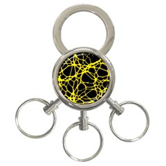 Hot Web Yellow 3 Ring Key Chains