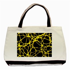 Hot Web Yellow Basic Tote Bag