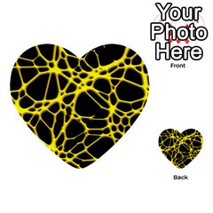 Hot Web Yellow Multi Purpose Cards (heart)