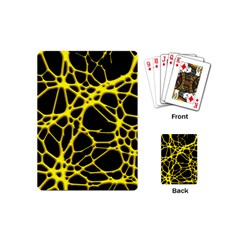Hot Web Yellow Playing Cards (mini)