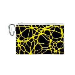 Hot Web Yellow Canvas Cosmetic Bag (s)