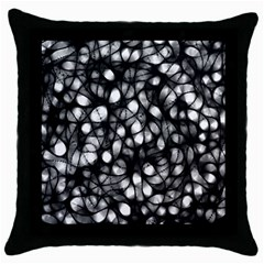 Chaos Decay Throw Pillow Cases (black)