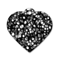 Chaos Decay Dog Tag Heart (one Side)
